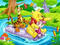 Pooh on River