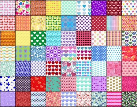Solve 7x9hearts jigsaw puzzle online with 520 pieces