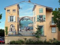Wall mural in France