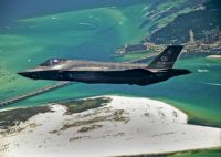F-35 Lightning Flies Over Destin Fla