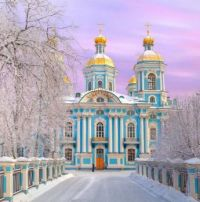St.Nichlas Naval Cathedral, Saint Petersburg, Russia