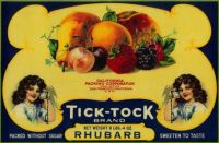 Themes Vintage ads - Tick-Tock Brand fruits