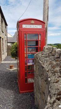 Telephone Box defibrillator and information point, Gwaenysgor, Prestatyn, Wales UK