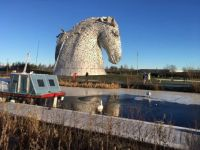 The Kelpies in winter