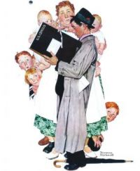 Famous Art Norman Rockwell The Census Taker Calendar Page 2018