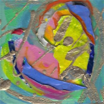 Tiny Treasures Abstract Heart Painting - Kristen Abrahamson, Artist