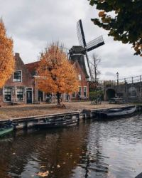 Fall along the canal