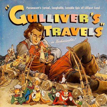 "Ad for Paramount's animated film ""Gulliver's Travels"" (1939)."