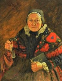 Henry Mosler's Portrait of Old Woman