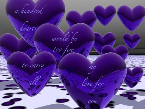 Purple Hearts are for lovers