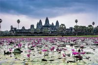 Angkor Wat, 1st a Hindu, then a Buddhist Temple Complex;  World's Largest Religious Monument.  Cambodia