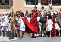 Medieval festival participants