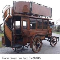 HORSE DRAWN BUS FROM THE 1800'S