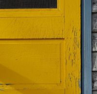 Yellow screen door