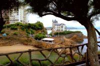 Biarritz - Plage du port vieux et villa Belza