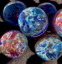handmade glass marbles