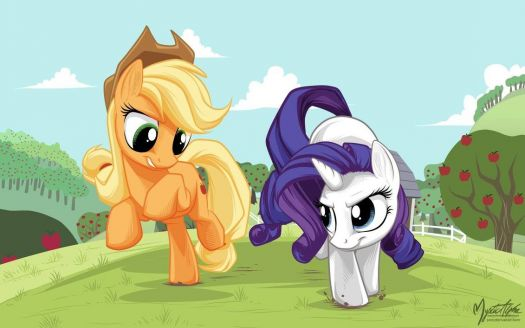 MLP: Applejack and Rarity Race
