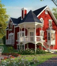 Fancy red house. . . . . . . .