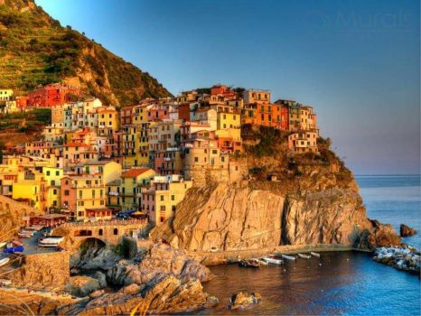 Manarola - Sunset Harbor-Richard Desmarais