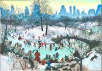Skating in Central Park, 1934, Agnes Tait (1894-1981)