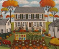 Autumn Farmhouse by Mary Charles