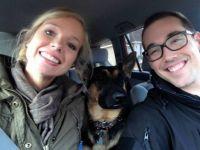 Sophia and Chris with Meekah