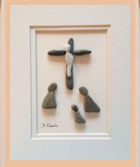 Easter Story art made of Stones