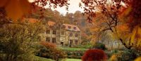 Mount Grace Priory house in autumn EnglishHeritage Trust