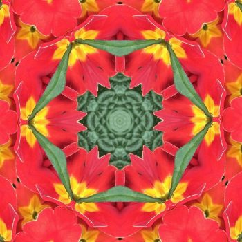 kaleidoscope 31 more red and yellow small