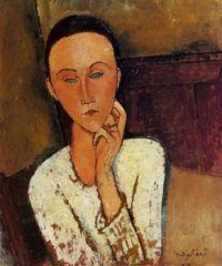 Lunia Czechowsha with her left hand on her Cheek - Modigliani
