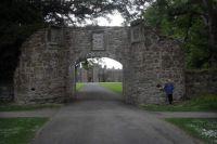The elegant gate to the castle of Scone, Scotland