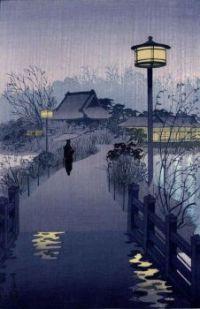 Evening rain on Shinobazu pond
