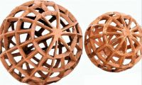 THEME:  Oval & Round ... Reticulated Copper Ball Set