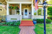 Classic american house with adorable porch