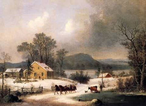 Sleigh Ride in the Snow by George Henry Durrie