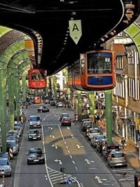 The monorail in Wuppertal, Germany  6712