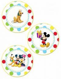 Mickey, Minny, and Pluto