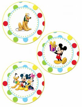 Mickey, Minny, and Pluto
