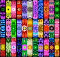 Round Rainbow Kaleidos  (BOARDS)  - L