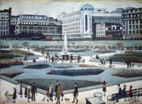 Manchester, Piccadilly Gardens, 1956 - L.S. Lowry