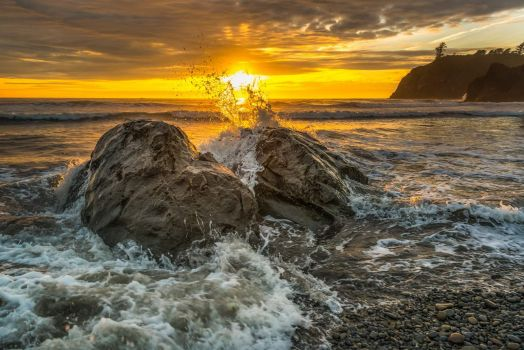 Splash - Ruby Beach Olympic National Park Washington US