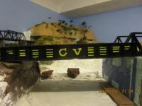 The CV Logo on the bridge