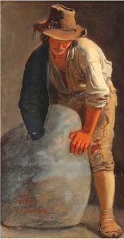 Julius Friedlænder (Danish, 1810–1861), A Roman by a Boulder (1844)