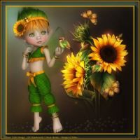 SUNFLOWER FAIRY BY EDDA DESIGN