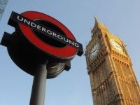 London Tube Sign With Big Ben.