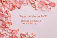 Happy Birthday Bobbie (Pasta)