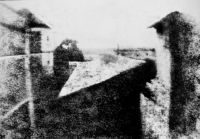 1826 earliest permanent photo, view from window at Le Gras