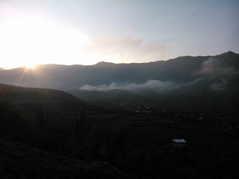 Sunset in Nandal Alborz Mountain range