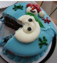 Snowman Cake Slice