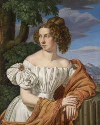 Heinrich Maria von Hess (1798?1863) Portrait of a Lady set against a landscape circa 1826